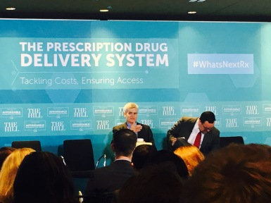 Senator Bill Cassidy discussing ways to reduce prescription drug cost in the United States.